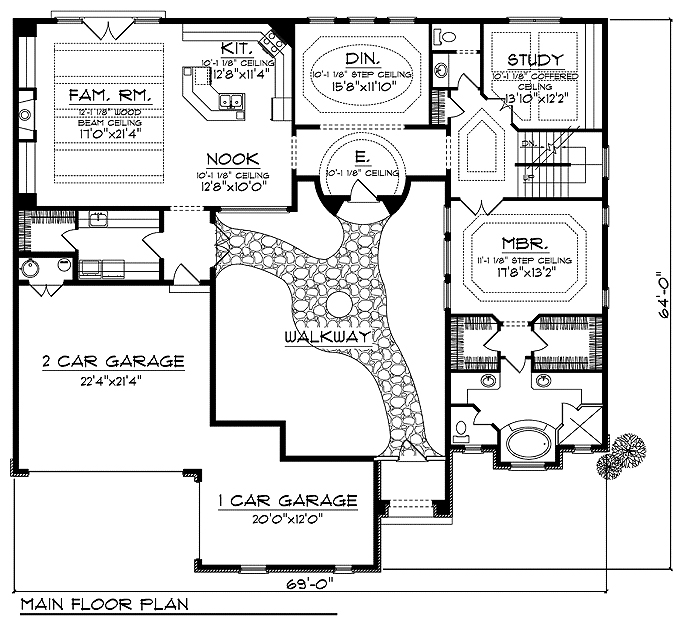 Tuscan villas home plans home design and style Tuscan home floor plans